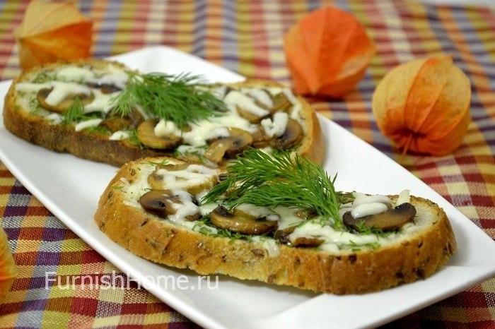 Бутерброды с грибами рецепты с фото