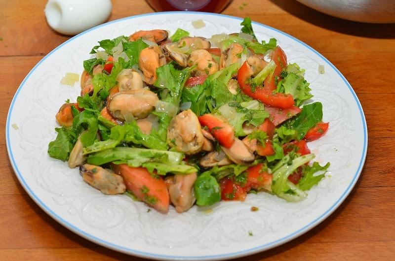 Салат из мидии
