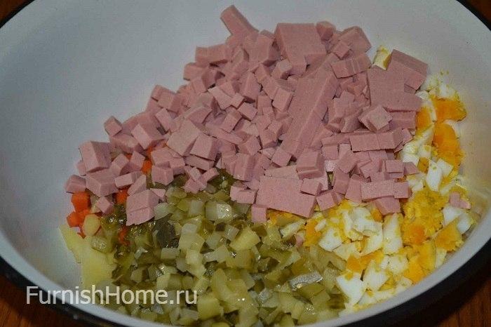 Оливье с крабовыми палочками рецепт с фото