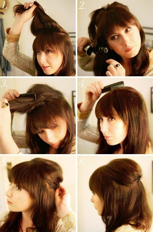 Причёска на средние волосы своими руками 64