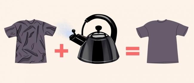 Используйте пар от чайника
