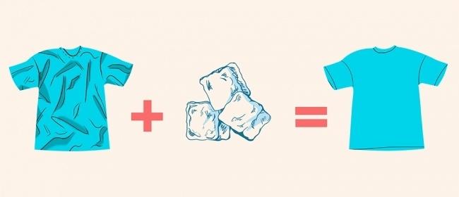 Разгладьте одежду льдом