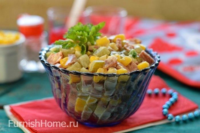 Салат из кукурузы консервированной пошаговый рецепт с