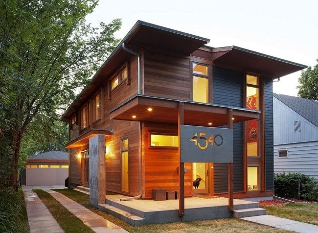 Пример недорогого стильного каркасного дома