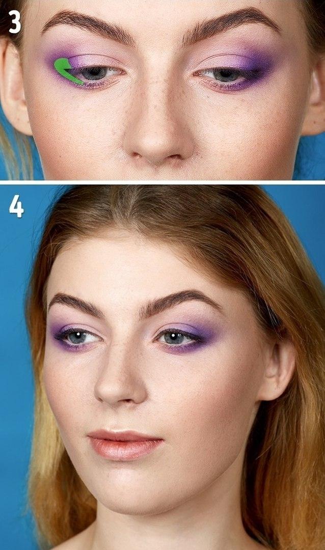 Вертикальная техника в макияже глаз