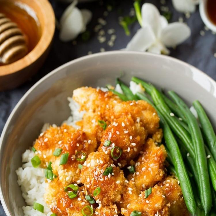 Цыпленок в медово-чесночным соусом