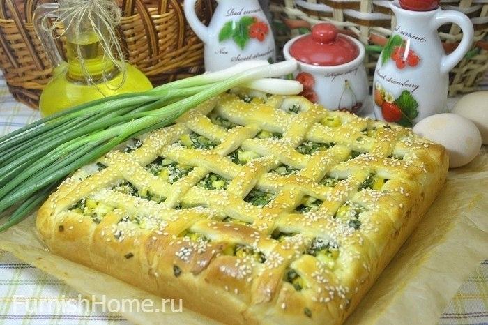 Пирог дрожжевой с луком и яйцом рецепт пошагово в духовке