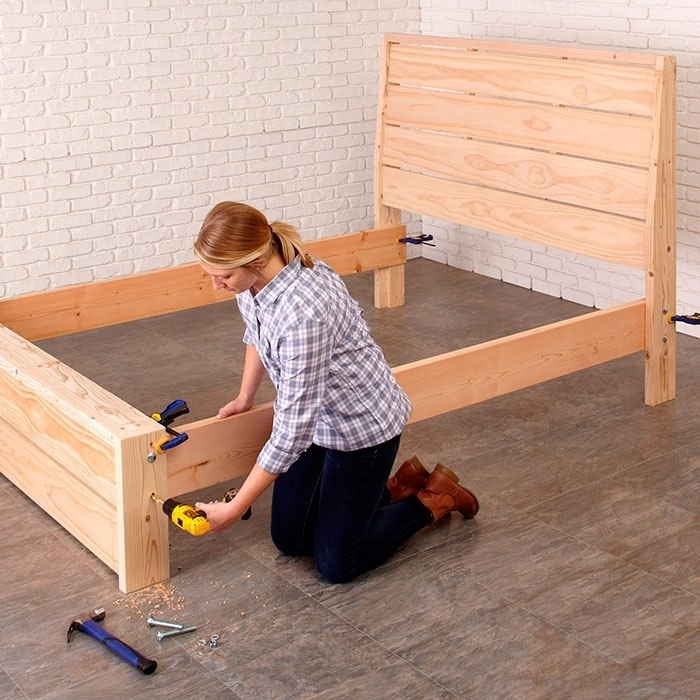 Как сделать выдвижной ящик для кровати своими руками 625