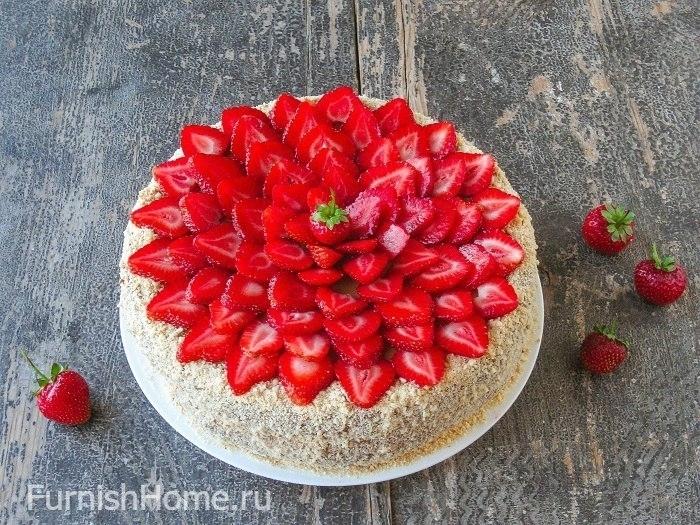 Медовый торт с кремом из вареной сгущенки
