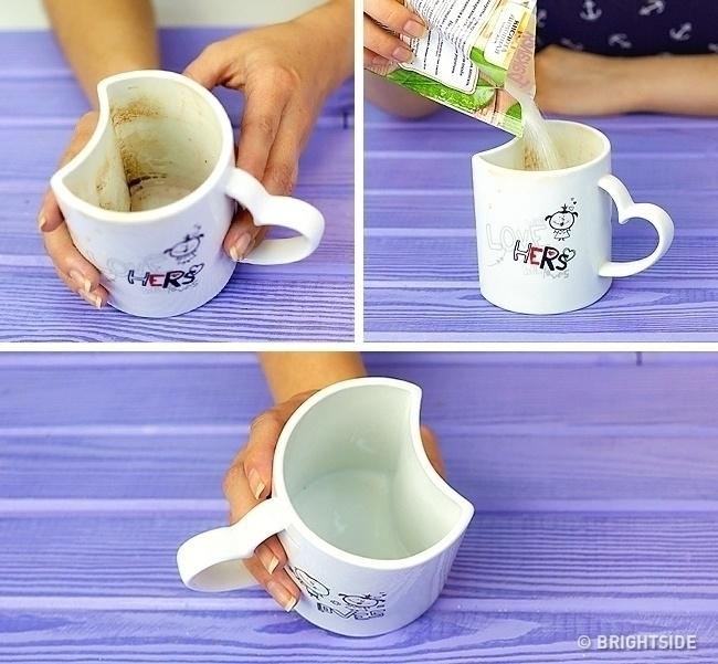 Лимонная кислота поможет очистить чашки и любую посуду до блеска