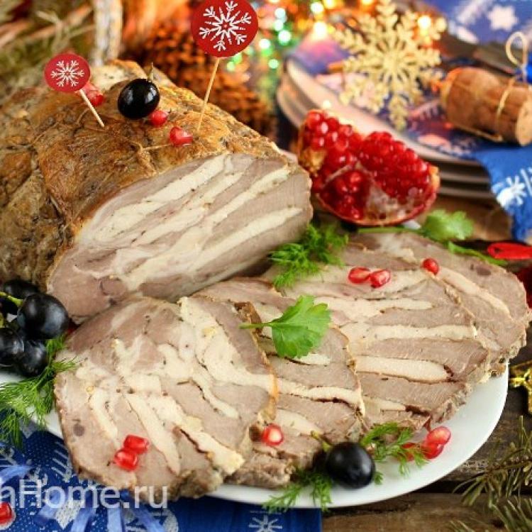 Буженина в домашних условиях из свинины и курицы