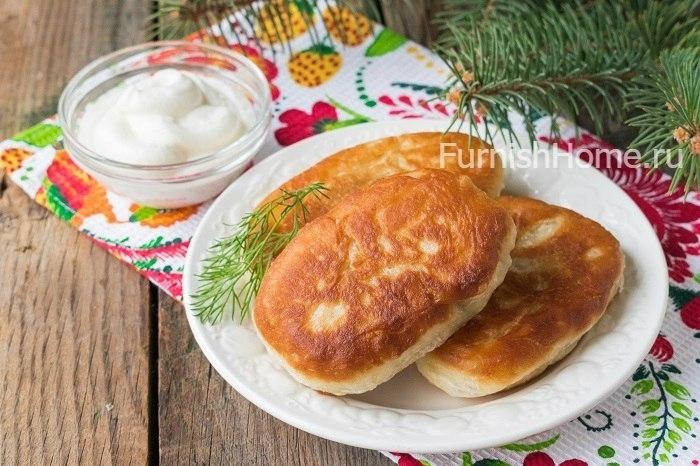 Пирожки на картофельном отваре на сковороде - рецепт пошаговый с фото