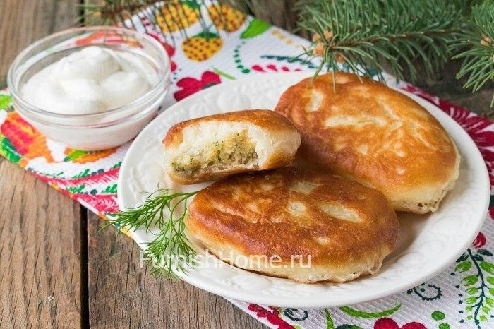 Жареные пирожки на отваре картошки