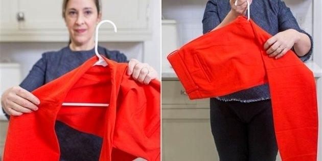 Как хранить брюки на обычной вешалке