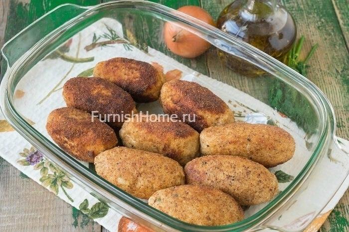 Куриные зразы с яйцом и зелёным луком