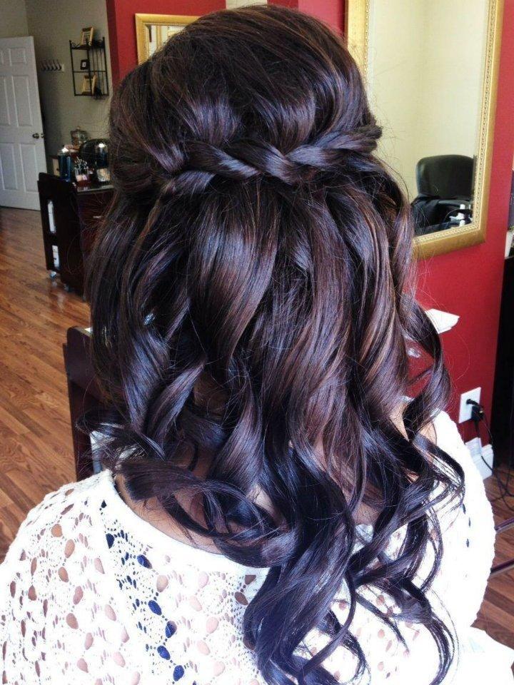 Прически для темных волос
