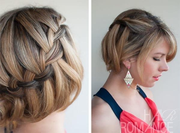 Прическа на короткие волосы своими руками плетение