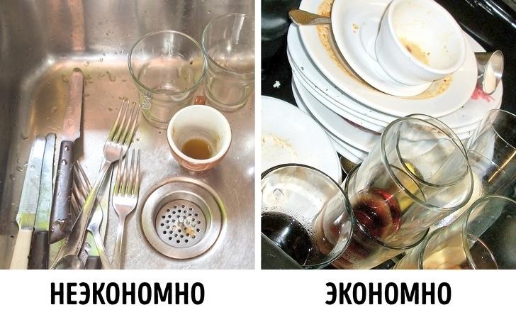 Мыть посуду горячей водой и под струей