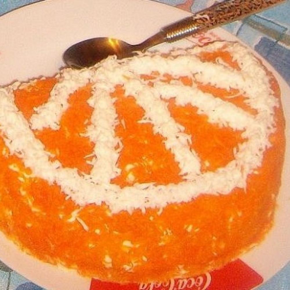 Салат апельсиновая долька фото пошагово