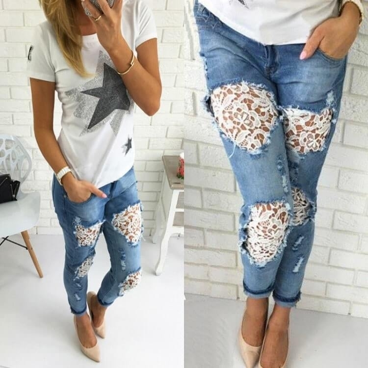Выбираем стильные узоры на джинсах: тренды в одежде 2020