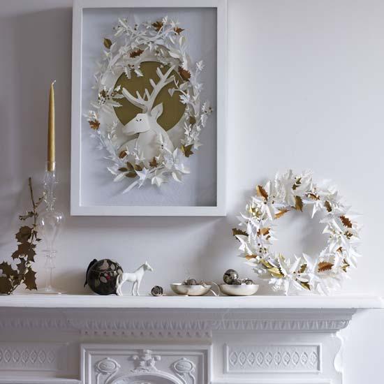 Новогодний декор своими руками в белом цвете