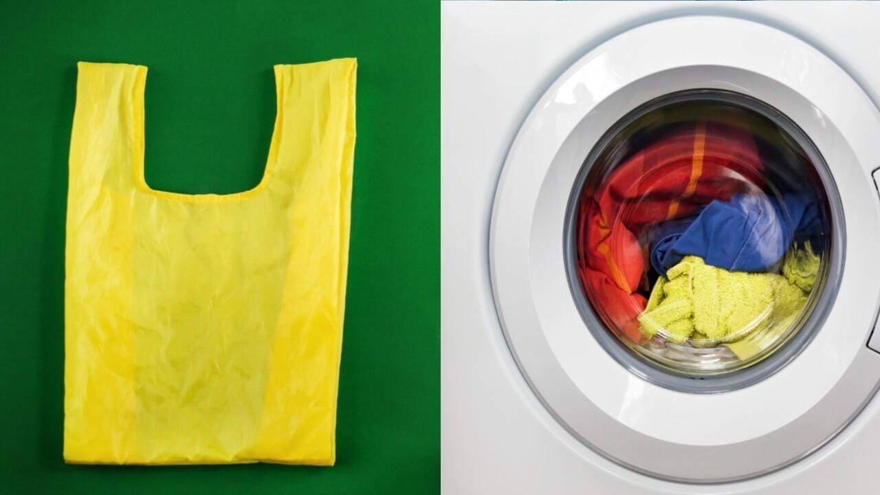 Не заслуженно забытый лайфхак для идеальной стирки: кладем целлофановый пакет в стиральную машину