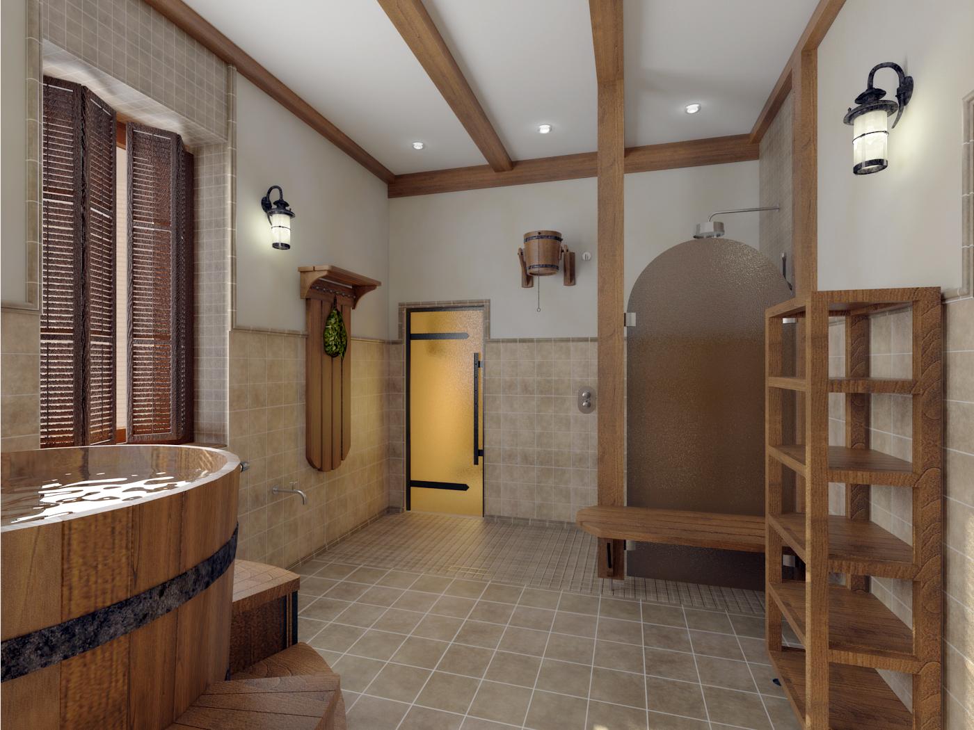 Дизайн и интерьер бани
