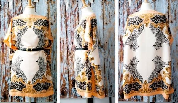 Платье-кафтан из шелковых платков на FurnishHome.ru