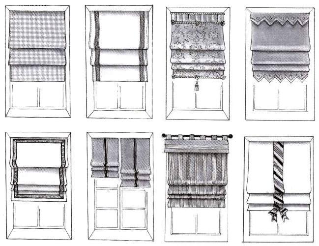 Как сшить римские шторы на кухню своими руками фото