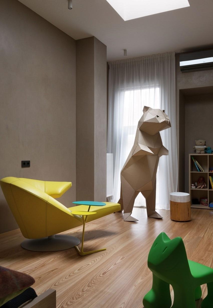 Необычный дизайн современного частного дома под Киевом