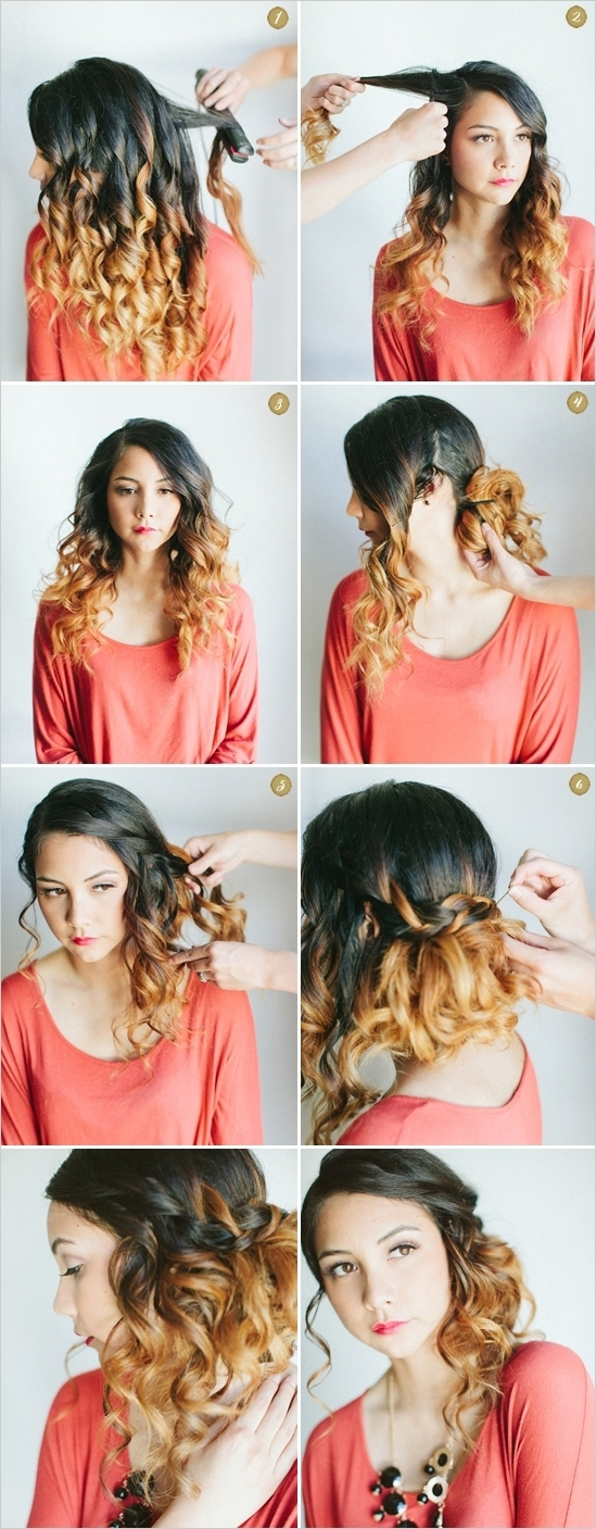 Прическа локоны на средние волосы в домашних условиях