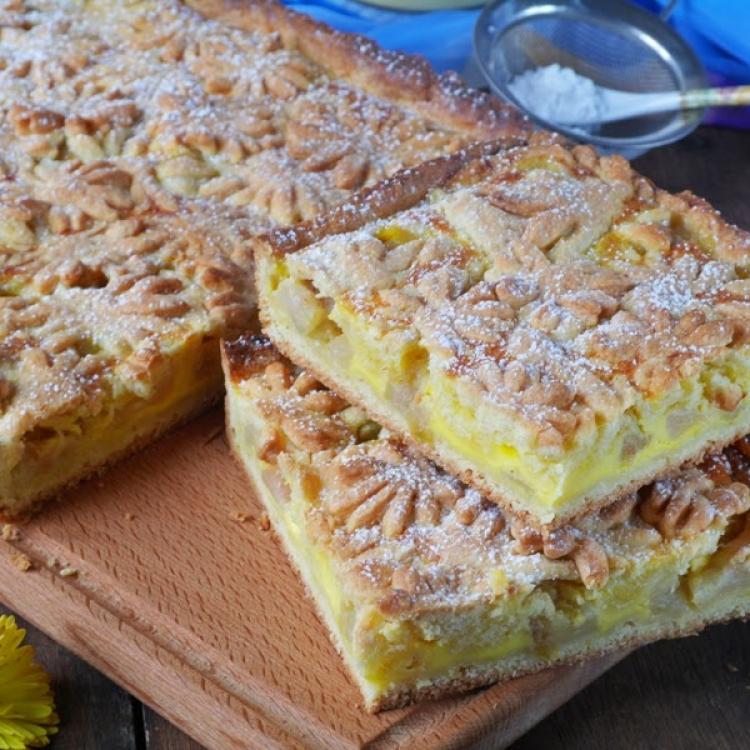 Пирог из песочного теста с яблоками рецепт с фото пошагово в духовке